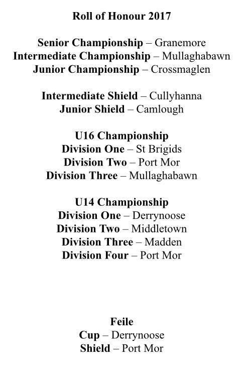 U14 Division Camogie